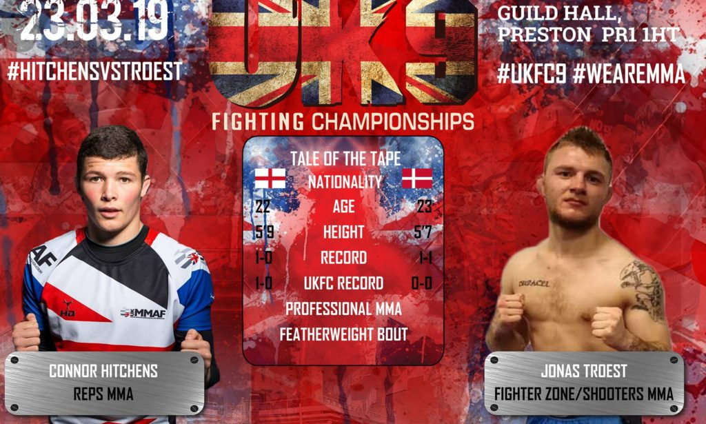 Jonas Troest fights at UK Fighting Championships