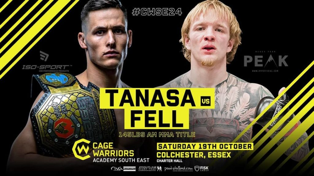 George Tanasa fights at Cage Warriors Academy South East