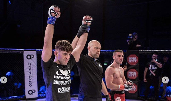 Renato Vidovic takes the victory via first-round TKO