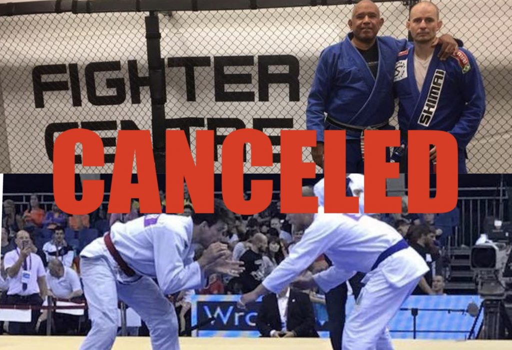 The takedowns for BJJ course and Roy Harris BJJ seminar are canceled